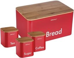 Duoninė su indeliais raudona