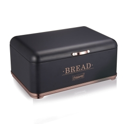 Duoninė metalinė juoda su vario spalvos detalėmis
