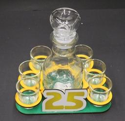 """Mažas grafinas su stikliukais """"25"""""""