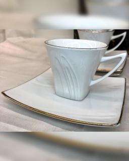Espresso puodelių komplektas balti
